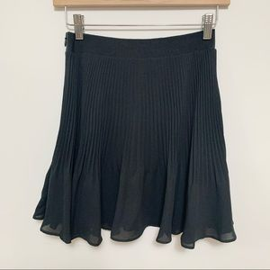 2/$20 Rachel Roy Black Pleated Mini Skirt